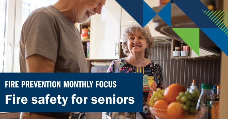 Fire safety for seniors image showing seniors in kitchen